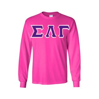 Sigma Lambda Gamma Long Sleeve Greek Lettered Tee
