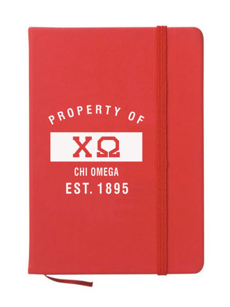 Chi Omega Property of Notebook