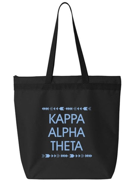 Kappa Alpha Theta Arrow Top Bottom Tote Bag