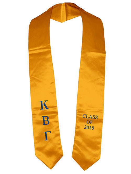 Kappa Beta Gamma Classic Colors Embroidered Grad Stole