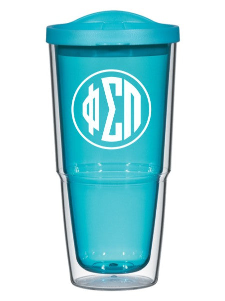 Phi Sigma Pi Circle Arrows 24 oz Tumbler with Lid
