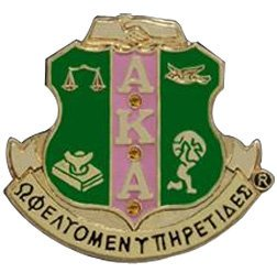 Alpha Kappa Alpha Shield Pin