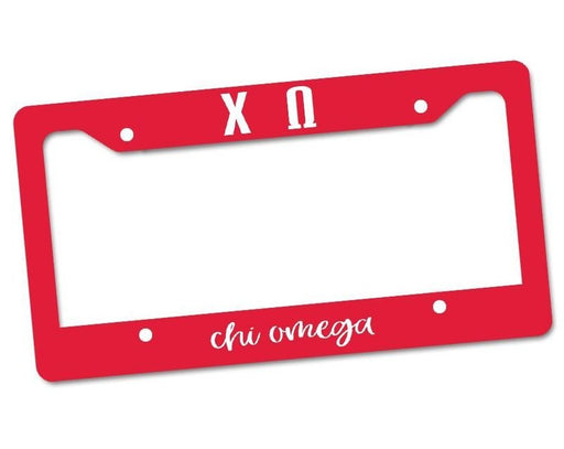 Chi Omega Custom License Plate Frame