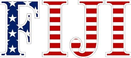 Fiji American Flag Letter Sticker - 2.5