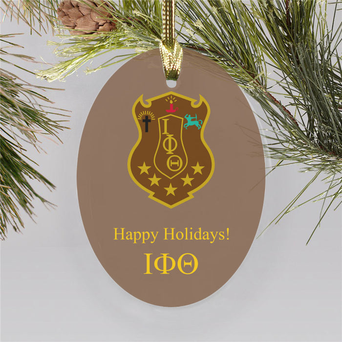 Iota Phi Theta Color Crest Ornament