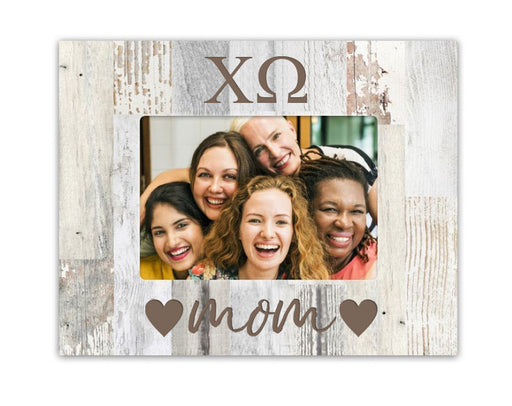 Sorority Hearts Wood Picture Frame
