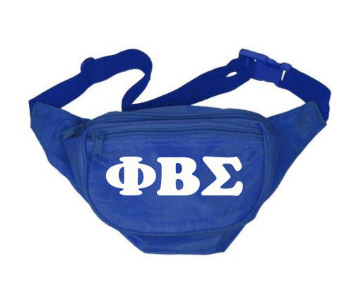 Phi Beta Sigma Fanny Pack Letters Layered Fanny Pack