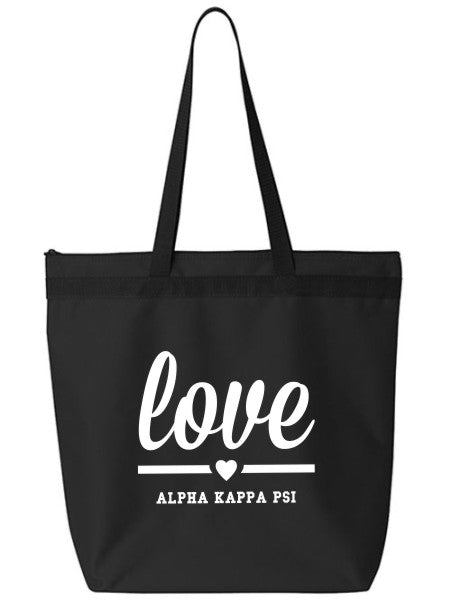 Alpha Kappa Psi Love Tote Bag