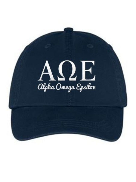 Alpha Omega Epsilon Collegiate Curves Hat