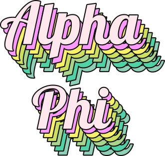 Alpha Phi Greek Stacked Sticker