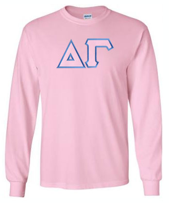 Delta Gamma Long Sleeve Greek Lettered Tee