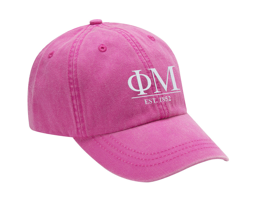 Ph Mu Letters Year Embroidered Hat