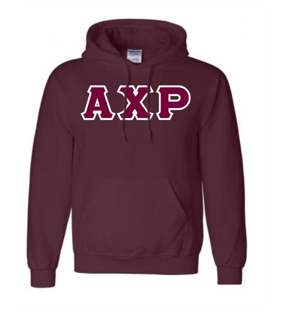 Alpha Chi Rho Lettered Hoodie