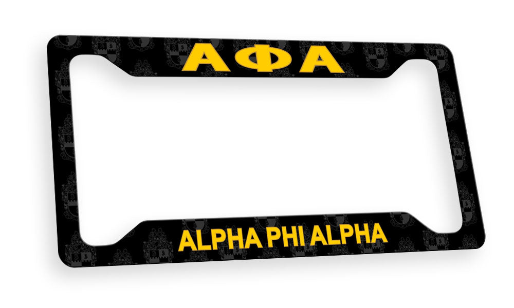 Alpha Phi Alpha New License Plate Frame