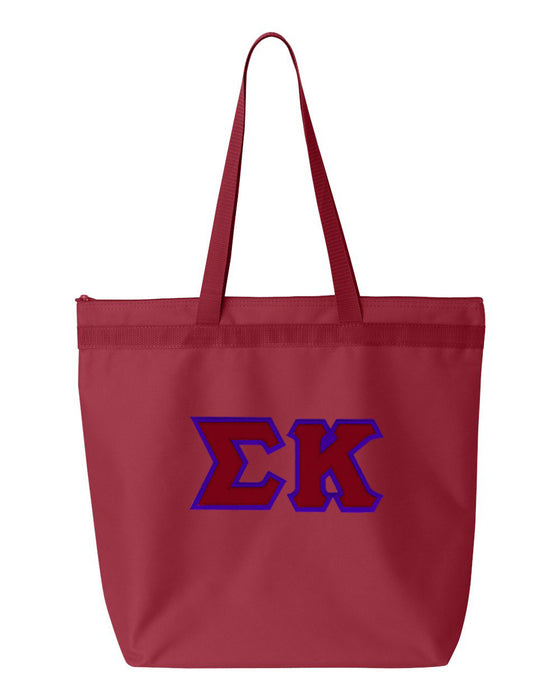 Sigma Kappa Greek Lettered Game Day Tote