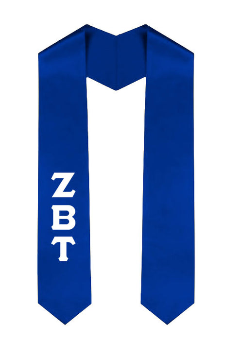 Zeta Beta Tau Classic Colors Graduation Stole