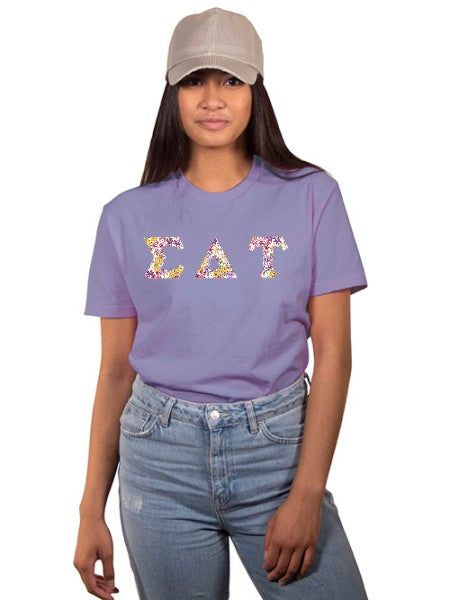 Sigma Delta Tau The Best Shirt with Sewn-On Letters