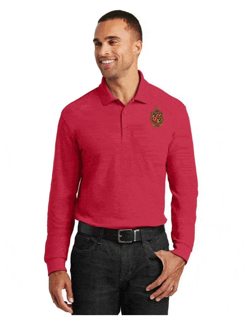 Delta Chi Long Sleeve Polo