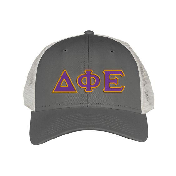 Delta Phi Epsilon Greek Trucker Cap