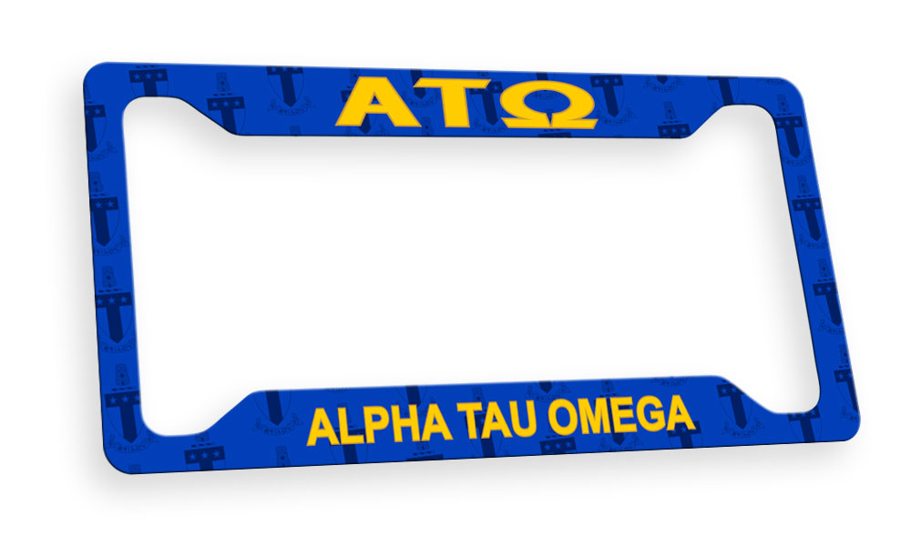 Alpha Tau Omega New License Plate Frame