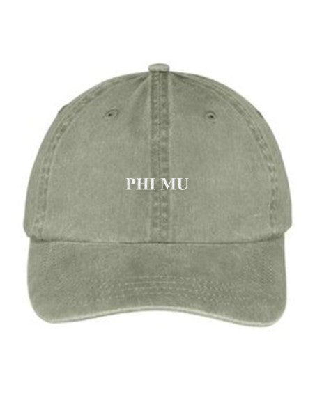 Phi Mu Embroidered Hat