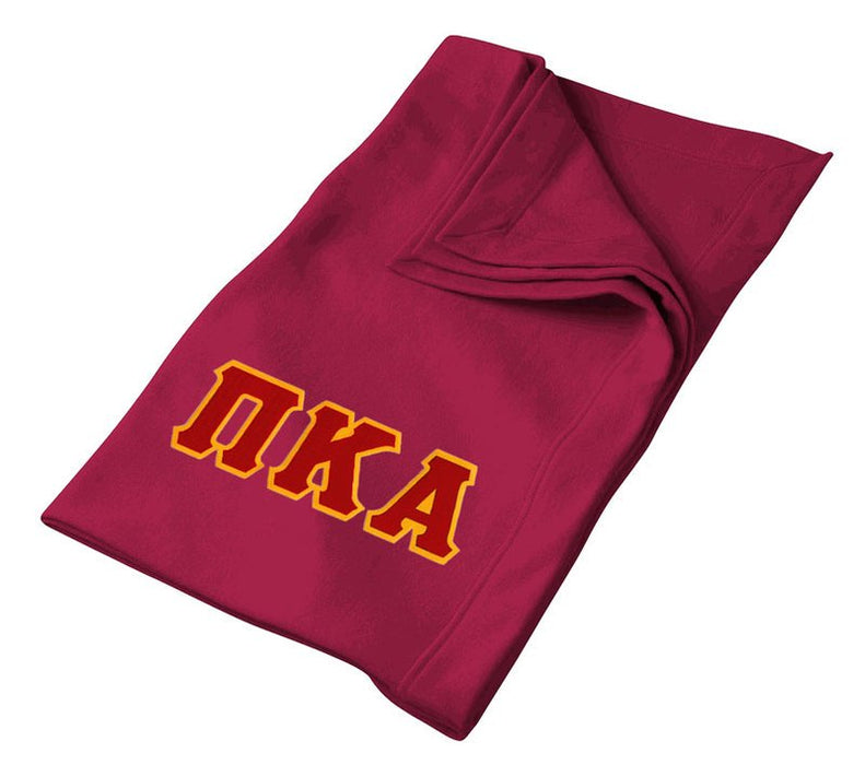 Pi Kappa Alpha Greek Twill Lettered Sweatshirt Blanket