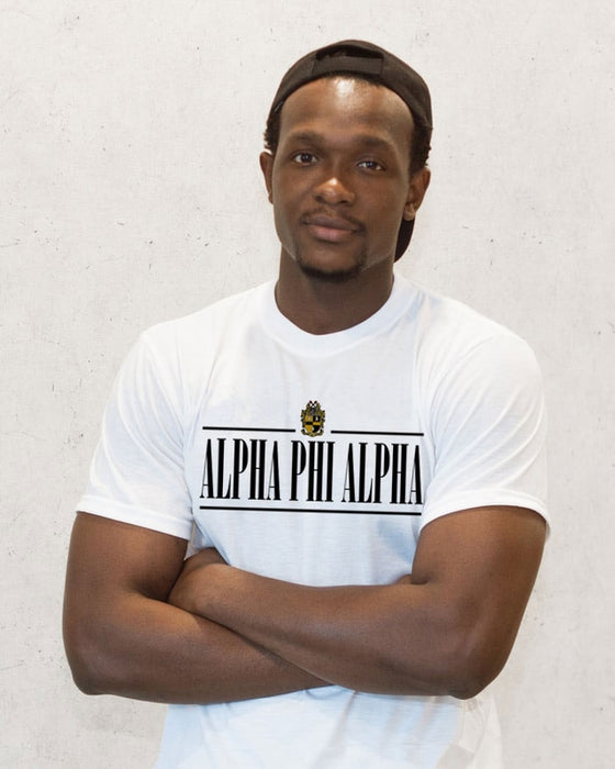 Alpha Phi Alpha Double Bar Crest T-Shirt