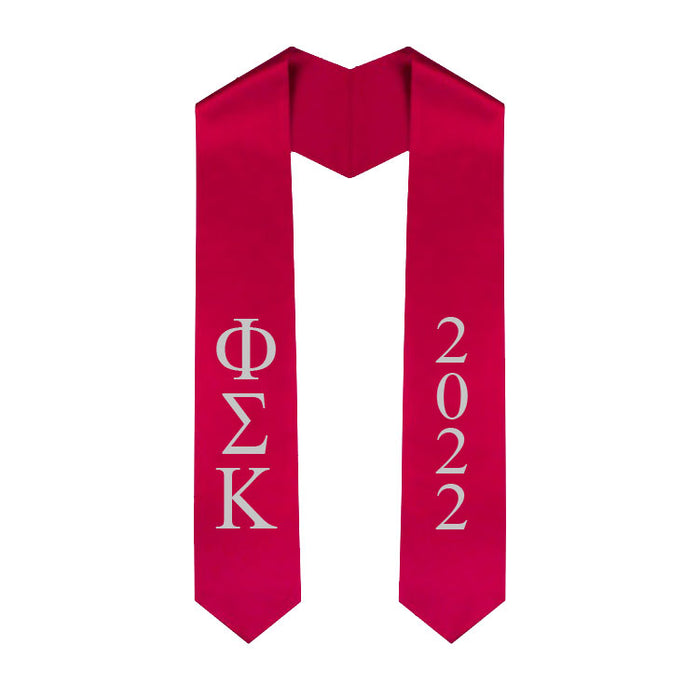 Phi Sigma Kappa Vertical Grad Stole with Letters & Year