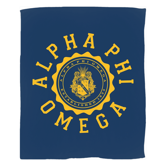 Alpha Phi Omega Seal Fleece Blankets Alpha Phi Omega Seal Fleece Blankets