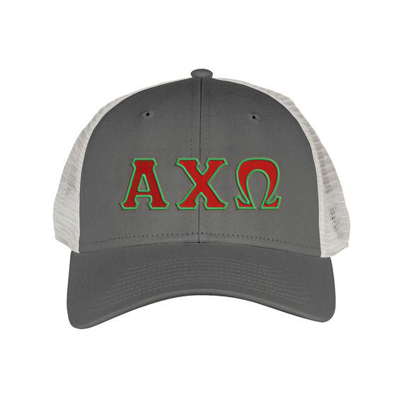 Alpha Chi Omega Greek Trucker Cap