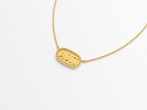 Alpha Omicron Pi Greek Necklace