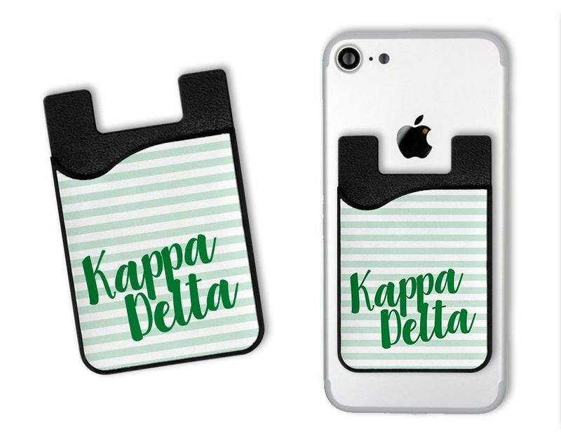 Kappa Delta Sorority Stripes Caddy Phone Wallet