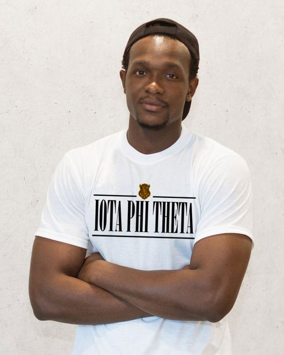 Iota Phi Theta Double Bar Crest T-Shirt