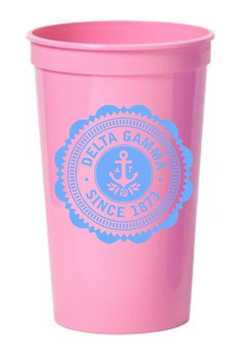 Delta Gamma Classic Oldstyle Giant Plastic Cup