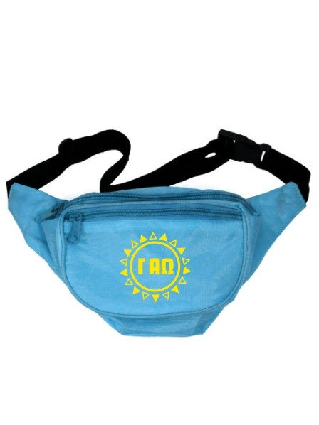 Gamma Alpha Omega Sun Triangles Fanny Pack