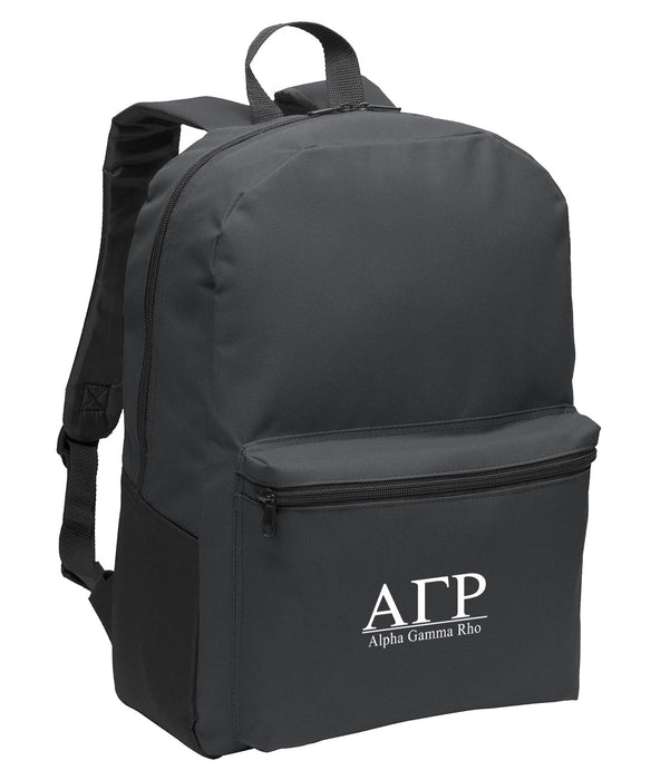 Alpha Gamma Rho Collegiate Embroidered Backpack