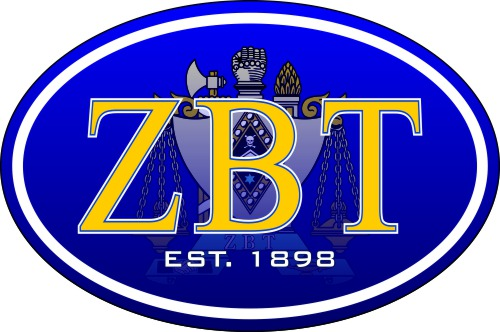Zeta Beta Tau Color Oval Decal