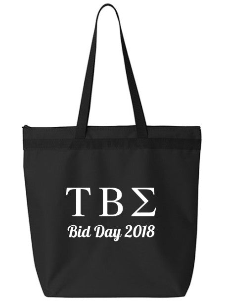 Tau Beta Sigma Roman Letters Event Tote Bag