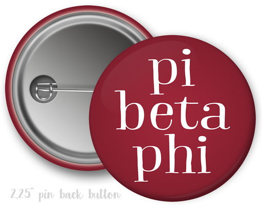 Pi Beta Phi Simple Text Button