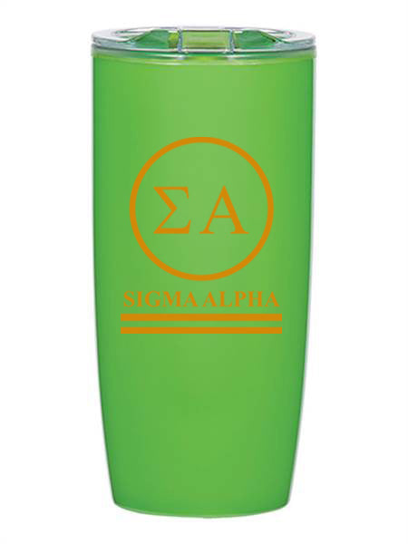 Sigma Alpha Circle Stripes 19 oz Everest Tumbler