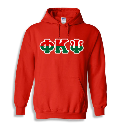 Phi Kappa Psi Two Toned Lettered Hooded Sweatshirt