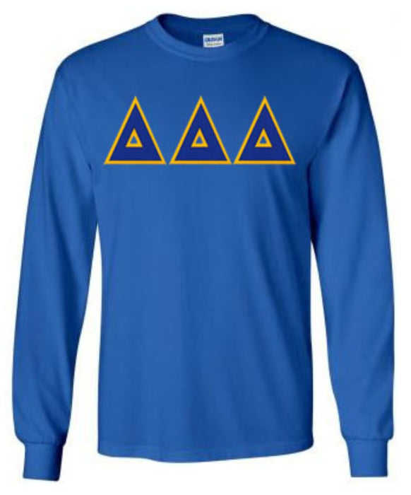 Delta Delta Delta Long Sleeve Greek Lettered Tee