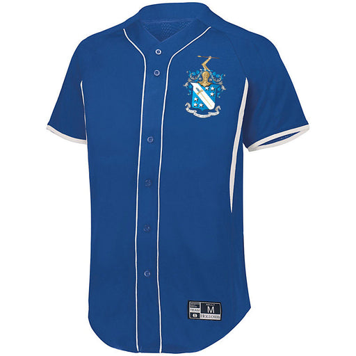 Phi Delta Theta 7 Full Button Baseball Jersey