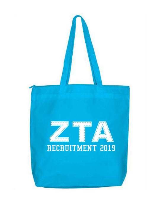 Zeta Tau Alpha Collegiate Letters Event Tote Bag