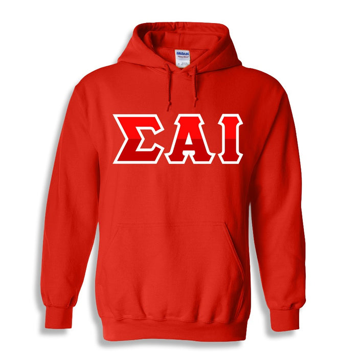 Sigma Alpha Iota Two Toned Lettered Hooded Sweatshirt