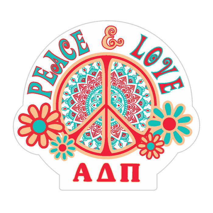 Alpha Delta Pi Peace Sticker