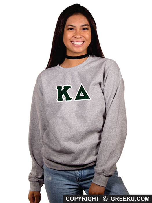 Kappa Delta Classic Colors Sewn-On Letter Crewneck