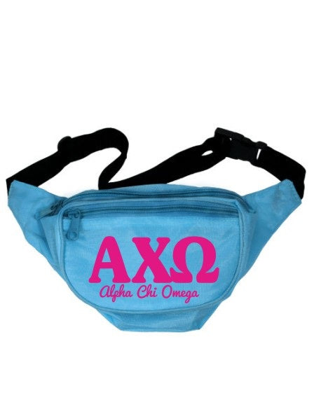 Alpha Chi Omega Letters Layered Fanny Pack