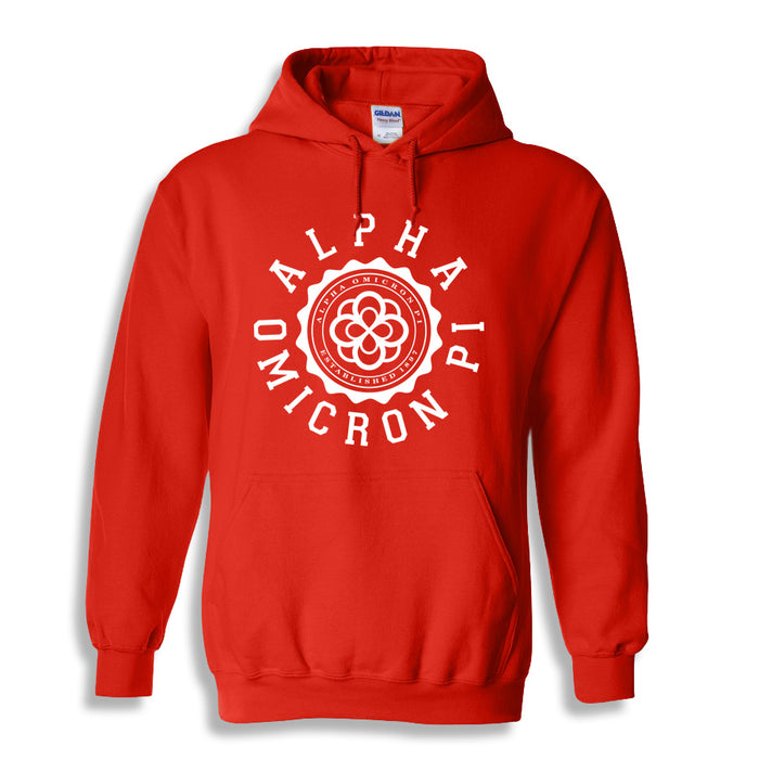Alpha Omicron Pi World Famous Seal Crest Hoodie
