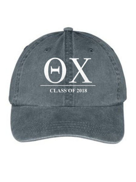 Theta Chi Embroidered Hat with Custom Text